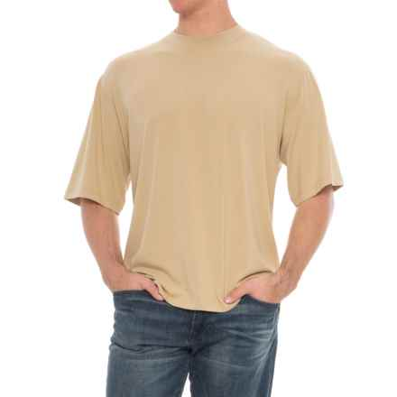 Soybu Solid Stretch-Knit Shirt - Short Sleeve (For Men) in Wheat - Overstock