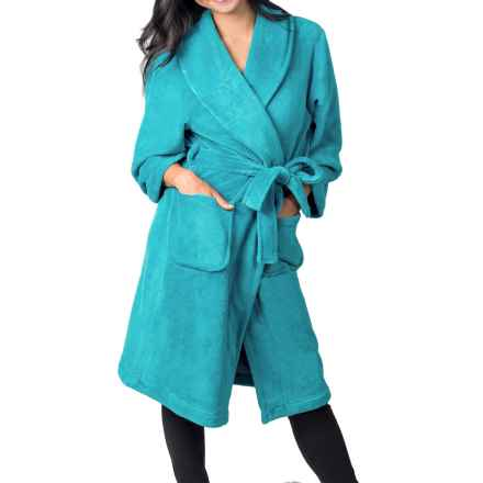 Soybu Spa Fleece Robe - Long Sleeve (For Women) in Caribbean - Closeouts