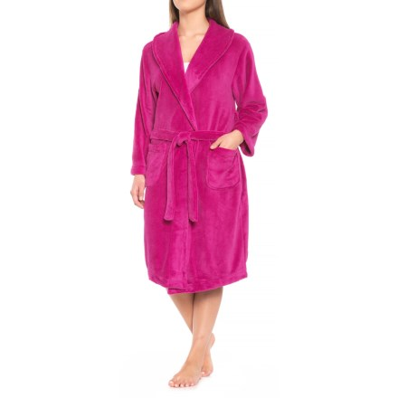 Clearance. Soybu Spa Fleece Robe - Long Sleeve (For Women) in Fuschia -  Closeouts 2a2f5e241