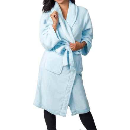 Soybu Spa Fleece Robe - Long Sleeve (For Women) in Reef Blue - Closeouts