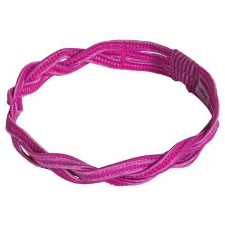Soybu Taylor Braided Sport Headband - Mini Stripe (For Little and Big Girls) in Zinnia - Closeouts