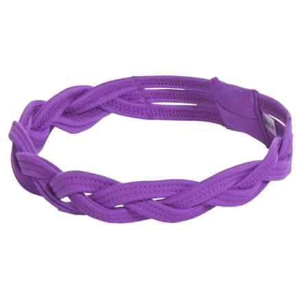 Soybu Taylor Braided Sport Headband - Solid (For Little and Big Girls) in Pretty Purple - Closeouts