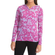 Soybu Taylor Hoodie Shirt - Zip Front, Burnout (For Women) in Orchid Pond - Closeouts