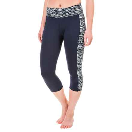 Soybu Toni Capri Leggings - UPF 50+ (For Women) in Blue Arrow - Closeouts