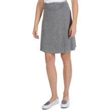 SoyBu Wanderlust Skirt - Stretch Cotton Chamois (For Women) in Granite Heather - Closeouts