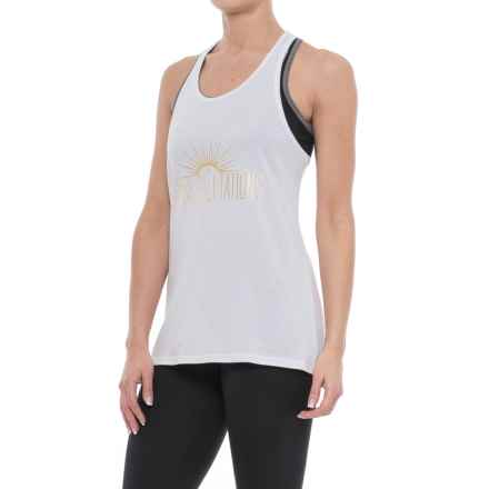 Soybu Watercress Graf Tank Top (For Women) in Sunny Salutations - Closeouts