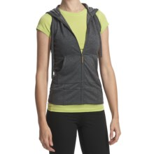 SoyBu Workout Hoodie Shirt - Sleeveless (For Women) in Black - Closeouts