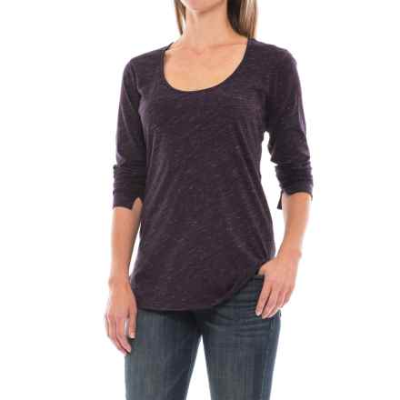 Space-Dye T-Shirt - Long Sleeve (For Women) in Eggplant - 2nds