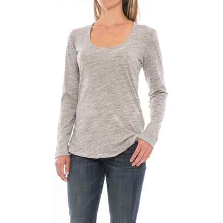 Space-Dye T-Shirt - Long Sleeve (For Women) in Grey Heather - 2nds