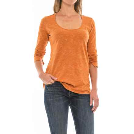 Space-Dye T-Shirt - Long Sleeve (For Women) in Orange - 2nds