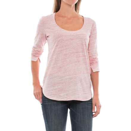 Space-Dye T-Shirt - Long Sleeve (For Women) in Pink - 2nds