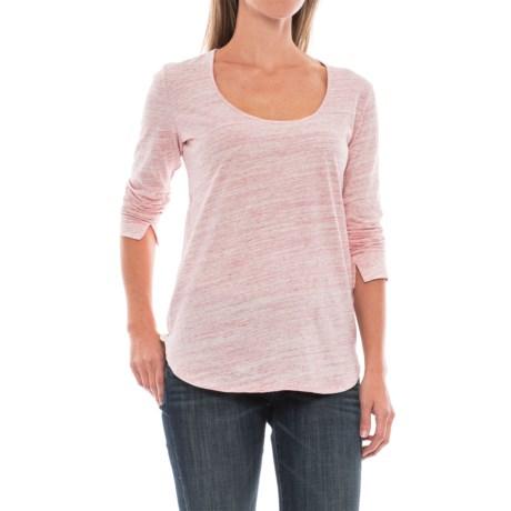Space-Dye T-Shirt - Long Sleeve (For Women) in Pink