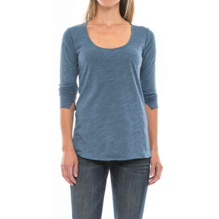 Space-Dye T-Shirt - Long Sleeve (For Women) in Steel Blue - 2nds