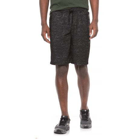 Space-Dyed Fleece Shorts (For Men) in Black