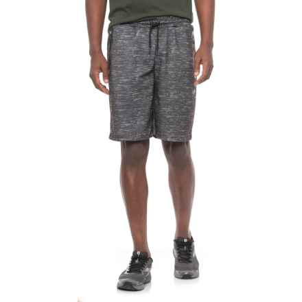 Space-Dyed Fleece Shorts (For Men) in Charcoal - 2nds