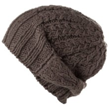 Spacecraft Collective Luda Beanie Hat - Slouchy Knit (For Women) in Charcoal - Closeouts