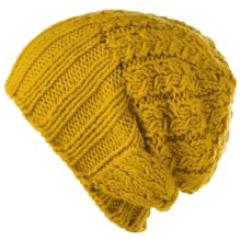 Spacecraft Collective Luda Beanie Hat - Slouchy Knit (For Women) in Mustard - Closeouts