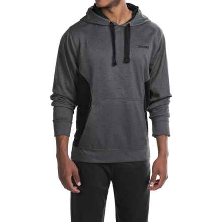 Spalding Classic Hoodie (For Men) in Black Heather/Black/Orange Sunset - Closeouts