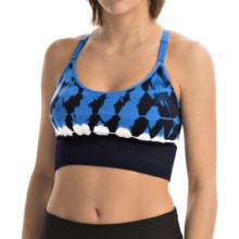 Spalding Color-Block Tie-Dye Cami Sports Bra - Racerback, High Impact (For Women) in Cadet/Epic Blue - Closeouts