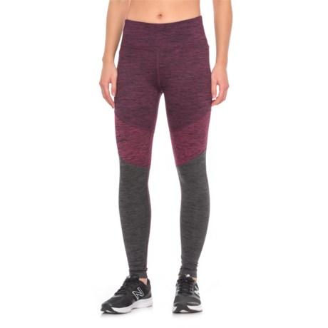 Spalding Color-Blocked Leggings (For Women) in Merlot Combo