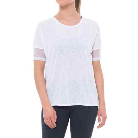 Spalding Crepe Wedge T-Shirt - Short Sleeve (For Women) in White - Closeouts