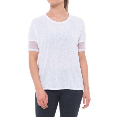 Spalding Crepe Wedge T-Shirt - Short Sleeve (For Women) in White