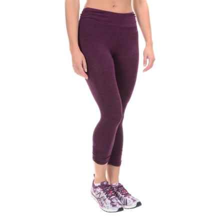 Spalding Crosshatch Capris (For Women) in Cranberry Combo - Closeouts
