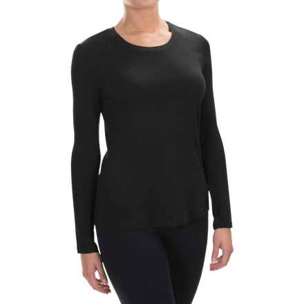 Spalding Effortless Shirt - Rayon, Long Sleeve (For Women) in Deep Black - Closeouts