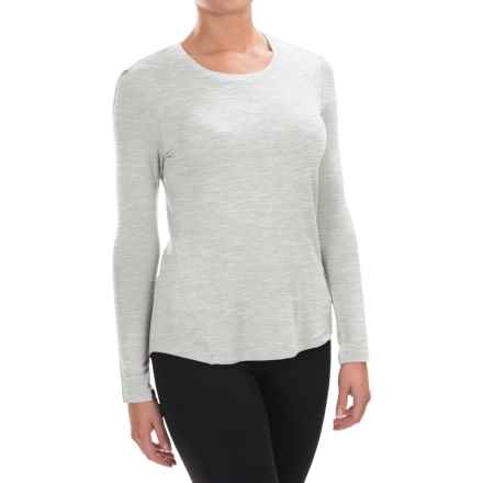 Spalding Effortless Shirt - Rayon, Long Sleeve (For Women) in Oatmeal Heather - Closeouts