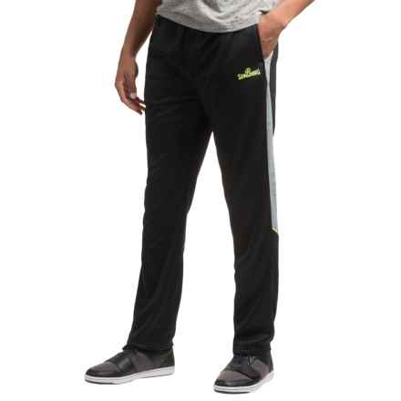 Spalding Fleece Pants - Athletic Fit (For Men) in Black/Grey Space Dye/Highlight - Closeouts