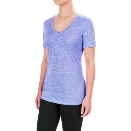 Spalding Granite Heathered T-Shirt - Short Sleeve (For Women) in Helix Blue - Closeouts