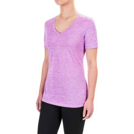Spalding Granite Heathered T-Shirt - Short Sleeve (For Women) in Hypnotic Purple - Closeouts