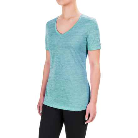 Spalding Granite Heathered T-Shirt - Short Sleeve (For Women) in Sea Green - Closeouts
