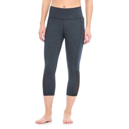 Spalding High-Performance Mesh Capris (For Women) in Black Diamond - Closeouts