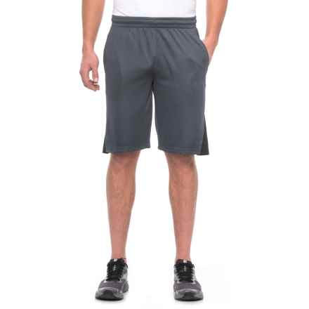 """Spalding High-Performance Shorts - 10"""" (For Men) in Dark Blue Grey/Black - Closeouts"""