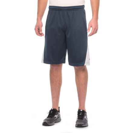 """Spalding High-Performance Shorts - 10"""" (For Men) in Navy/Light Grey - Closeouts"""