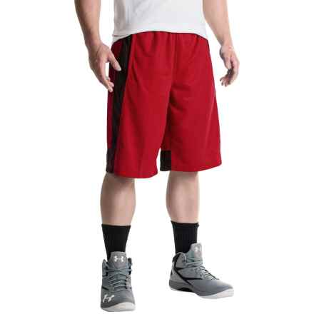 """Spalding Impact Mesh Shorts - 11"""" (For Men) in Red Coast - Closeouts"""