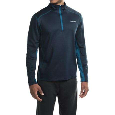 Spalding Intensity Fleece Pullover Shirt - Zip Neck, Long Sleeve (For Men)