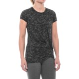 Spalding Knotted Studio T-Shirt - Short Sleeve (For Women)