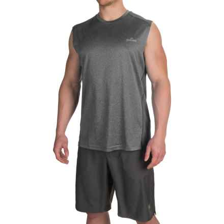 Spalding Mesh-Back Muscle Tank Top (For Men) in Heather Grey - Closeouts