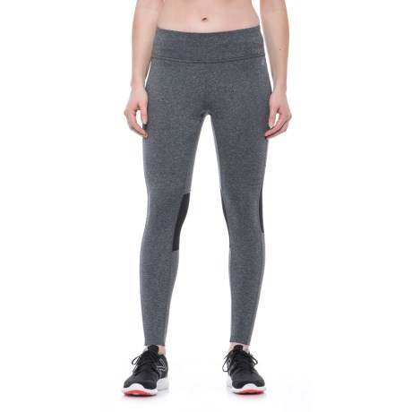 Spalding Mesh Insert Leggings (For Women) in Charcoal Heather