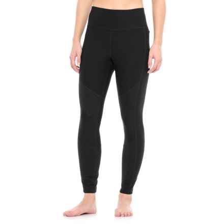 Spalding Moto Ribbed Leggings (For Women) in Deep Black - Closeouts