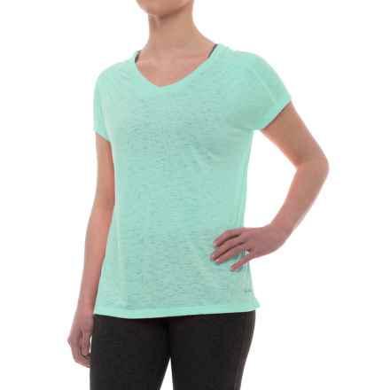 Spalding Peaceful Shirt - Loose Fit, Short Sleeve (For Women) in Lavender Pop - Closeouts