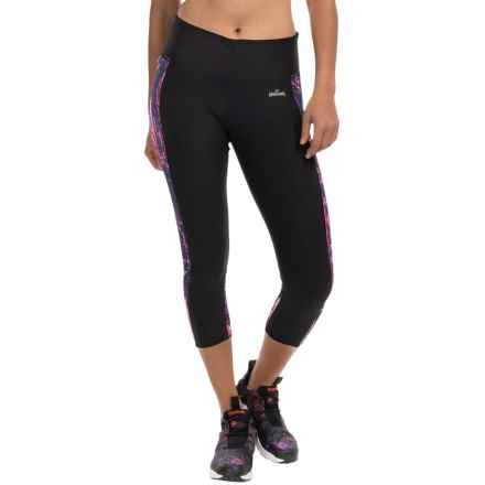 Spalding Pixel City Insert Crop Pants (For Women) in Deep Black/Plasma Pink - Closeouts