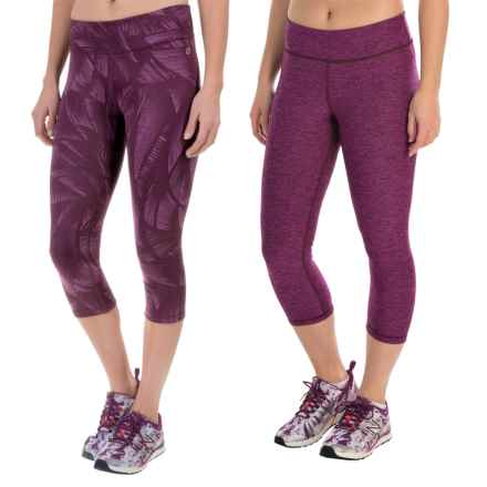 Spalding Pixel Print Capris - Reversible (For Women) in Bright Orchid Combo - Closeouts
