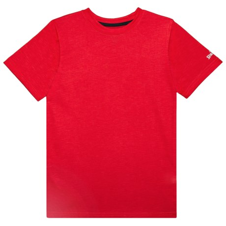Spalding Pregame Space-Dye T-Shirt - Short Sleeve (For Big Boys) in Red Space Dye