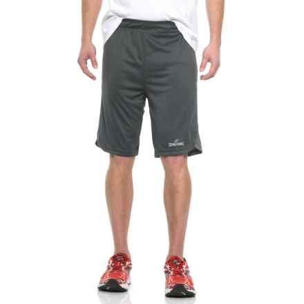 """Spalding React High-Performance Shorts - 10"""" (For Men) in Gravel/Concrete - Closeouts"""