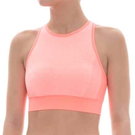 Spalding Seamless Ombre Sports Bra - Medium Impact (For Women) in Wild Melon - Closeouts