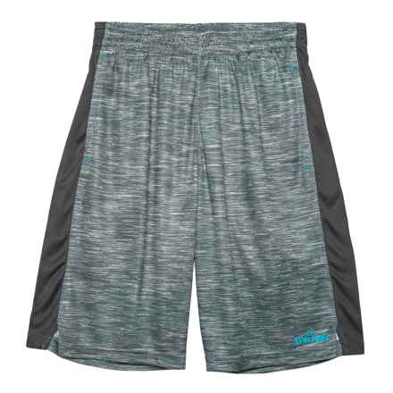 Spalding Space-Dyed Pregame Shorts (For Big Boys) in Grey - Closeouts