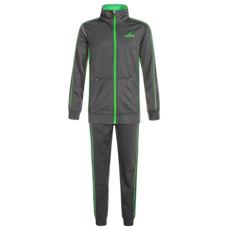 Spalding Tricot Sweat Set - 2-Piece (For Toddlers) in Gravel/Bright Green